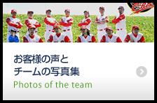 お客様の声とチームの写真集